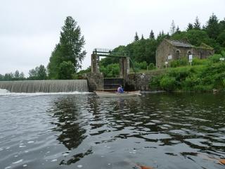 Fin de la remontée à la troisième écluse du canal.