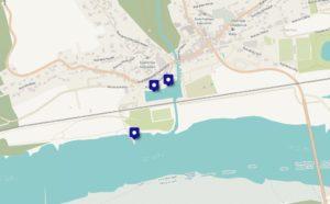 Plan des cales de Oudon